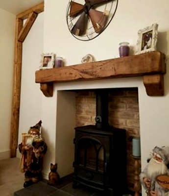 OAK FIREPLACE MANTEL/ MANTLE BEAM) +OAK CORBELS and  CONCEALED FIXINGS from £68