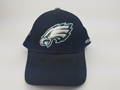 Philadelphia Eagles S M Black Reebok Onfield Baseball Hat Cap NFL Football 8634db393