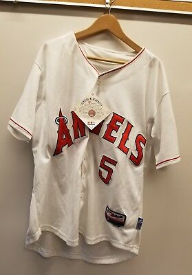 3f756205e0a NWT AUTHENTIC MENS LOS ANGELES ANGELS ALBERT PUJOLS Majestic sewn JERSEY  SIZE 48