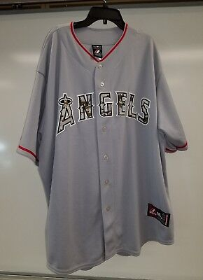 048028b3cae LOS ANGELES ANGELS White Sleeveless Blank Authentic Jersey Majestic ...