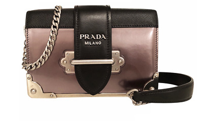 e83c26ebfd8f AUTHENTIC METALLIC PRADA Cahier Leather Shoulder Crossbody bag OPEN TO ALL  OFFER