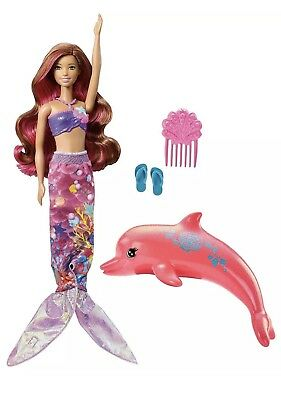 Barbie Dolphin Magic Transforming Mermaid Doll Summer Water Splash Color Change