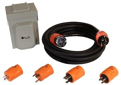20 Amp NEMA L14-20P Inlet Box Emergency Power Kit by AC WORKS®