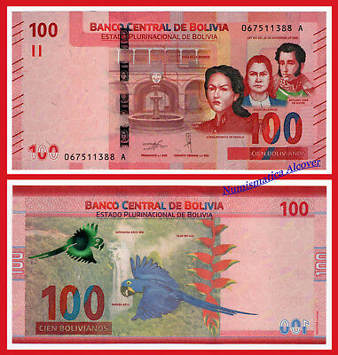BOLIVIA 100 Bolivianos 2018 2019 NEW DESIGN Pick New  SC / UNC