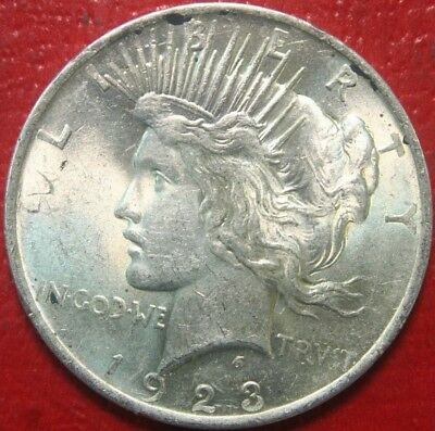 1923 Peace Silver Dollar $ , BU UNCIRCULATED , US Coin,