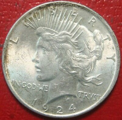 1924 Peace Silver Dollar $ , BU UNCIRCULATED , US Coin,