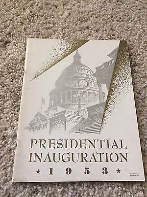 President Dwight Eisenhower Richard Nixon 1953 Presidential Inauguration Program