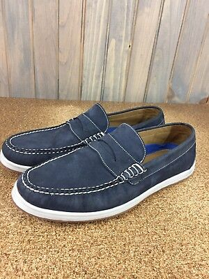 9c0658a9152 Men s Peter Millar Slip On Loafers Shoes - Size  10 Medium - Blue Suede