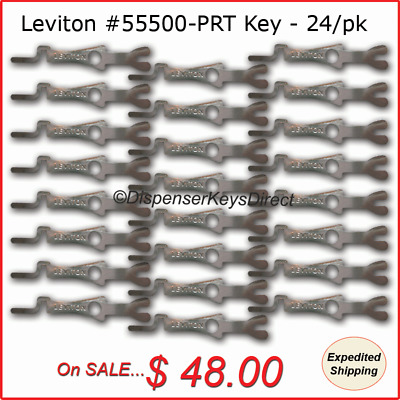 Leviton #55500-PRT - Tamper Proof Electrical Switch Key - (24/pcs - Bulk Pack)