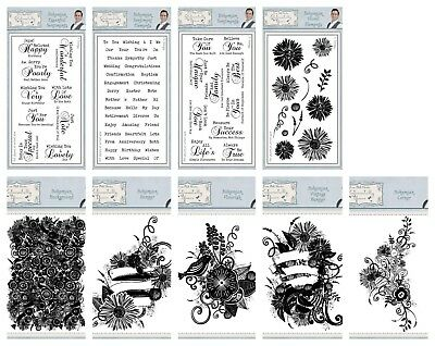 Sentimentally Yours by Phill Martin - DL & C6 Stamps - Bohemian Range - FREE P&P