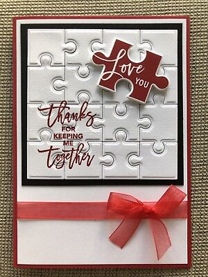 Handmade Jigsaw Puzzle Valentine's Day Card