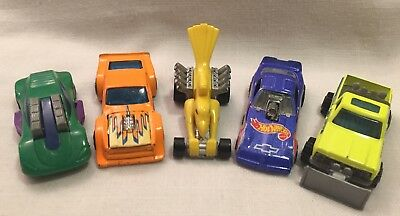 Lot of 5 Hot Wheels Matchbox Die Cast Metal Sports Cars Plow Truck 1977-1994