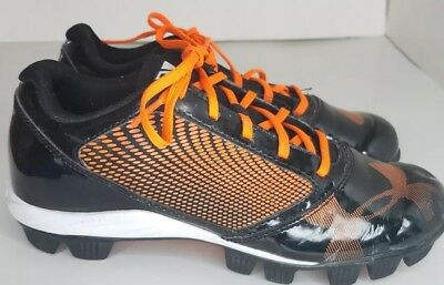 0861442fc6e5 Under Armour Youth Baseball Cleats Size 5Y, Black & Orange PreOwned - Ships  Free