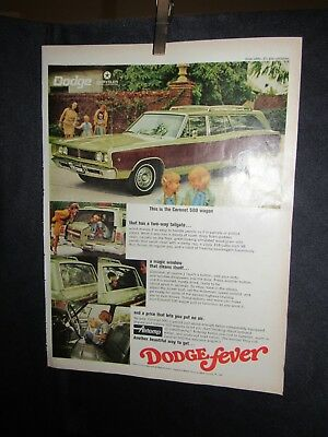 1968 Dodge Coronet 500 Wagon Print Advertisement