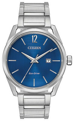 Citizen Eco-Drive CTO Men's Blue Dial Silver-Tone 42mm Watch BM7410-51L