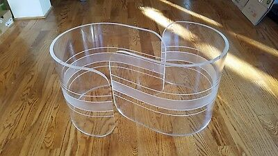 Mid Century Modern Clear Lucite Coffee Table Bases