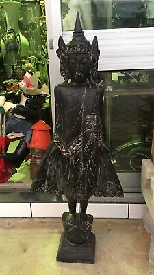 Large Wooden Asian Statue