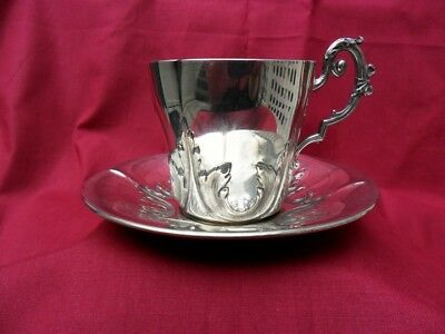 Silver Coffee Cup and Saucer Armand GROSS, France, 19th Century