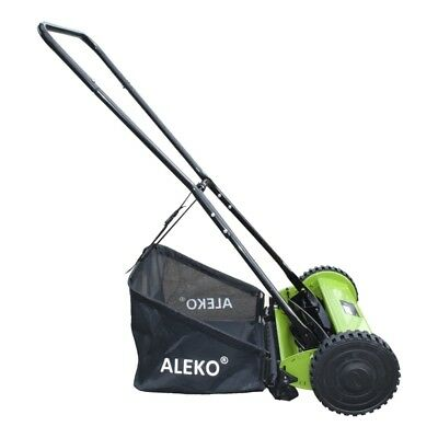 ALEKO Hand Push Lawn 16 Inches Mower Adjustable Cutting Height 5-Blade