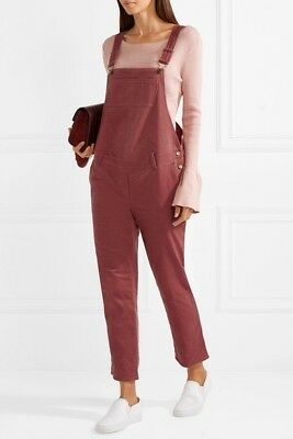 Hatch Collection Maternity Corduroy Overalls Jumper Jumpsuit Pink Large