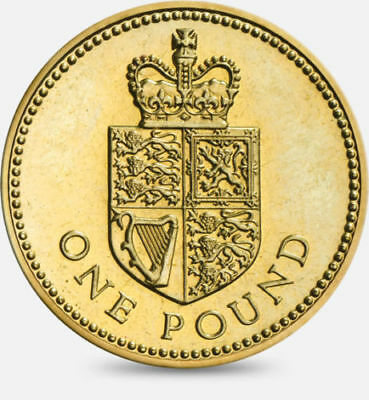 1988 CROWNED SHIELD £1 One Pound Coin -- Great British Coin Hunt