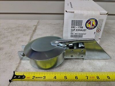 "Heavy Duty Semi Commercial Truck Exhaust Stack Rain Cap 4"" I.D. PAI # ERC-1788"