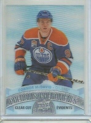 2017-18 Upper Deck Tim Hortons Clear Cut Phenoms #CCP1 Connor McDavid (ref46213)