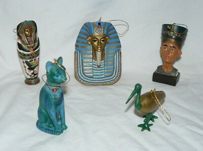 Egyptian Ornament Statue set of 5, Excellent condition