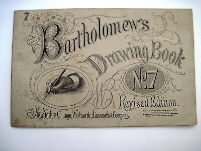 """Vintage """"Bartholomew's Drawing Book"""" No.7 w/ Pictures to Draw"""