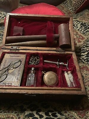 Exclusively Rare Antique 1800's Vampire Slaying Kit W/1877 Waltham Pocket Watch