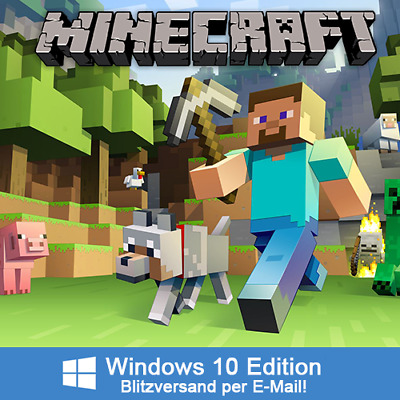 Minecraft Windows 10 Edition Key Blitzversand