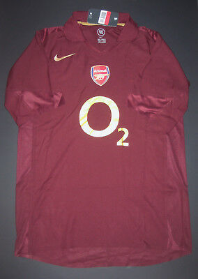 New 2005-2006 Nike Arsenal Highbury Authentic Player Issue Jersey Shirt Kit