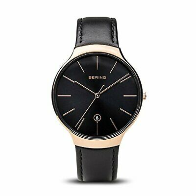 BERING Time 13338-462 Unisex Classic Collection Watch with Calfskin Strap and sc