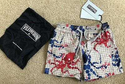 New w Tags & Bag Authentic VILEBREQUIN Swim Trunks PAINT 2 YEARS Kids Unisex