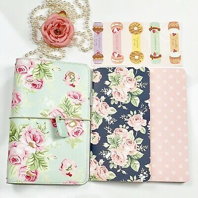 Hello Beautiful Mint Green Rose Travelers Notebook Webster's Pages