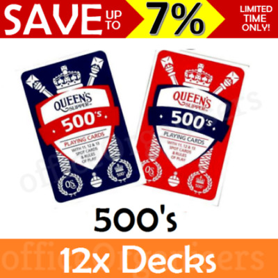 Queen's Slipper 500's Playing Cards Casino Quality Deck & Points Game Rules AU