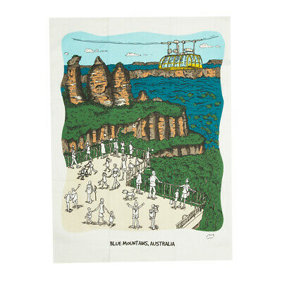 NEW SQUIDINKI THE Three Sisters Blue Mountains Tea Towel