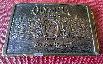 Vintage Olympia Beer Belt Buckle Wyoming Studio Art Works Its In the Water