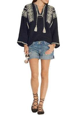 f09c49917646f2 NWT ISABEL MARANT Vince Embroidered blouse, top, tunic FR 38 M BOHEMIAN