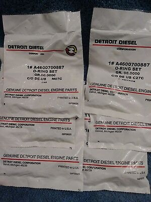 ( 6 )- Detroit Diesel Genuine DD13/15 Injector O Rings And Seal Kit A4600700887.