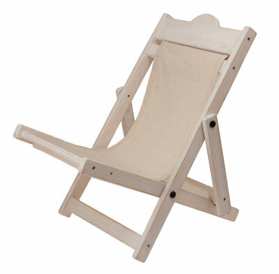 SPECIAL OFFER! Charlie Bears Shell White DECK CHAIR (BRAND NEW RRP £30)