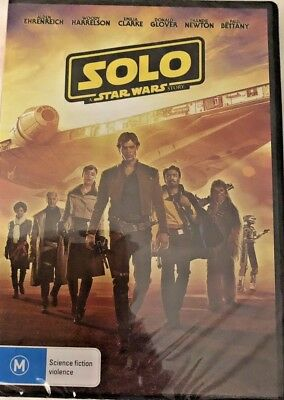 Solo * A Star Wars Story 2018 Genuine Aust Release Region 4 Dvd New Sealed