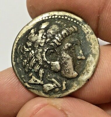 ANCIENT GREEK SILVER COIN TETRADRACHM ALEXANDER THE GREAT FOURRE 12.3gr 31.1mm