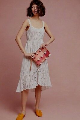 d57f1cdabfb1 NWT Anthropologie Farm Rio Isolde Eyelet Embroidered Dress Sz. Large Petite  $228