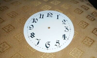 """For French/German Clocks-Paper Clock Dial- 4"""" M/T-Arabic-GLOSS WHITE-Face/Spares"""