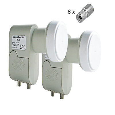 2 Pcs Digital Twin LNB Lnc Lmb 0,1dB HD Tv 1080p Sky 3D Energy-Saving only 160mA