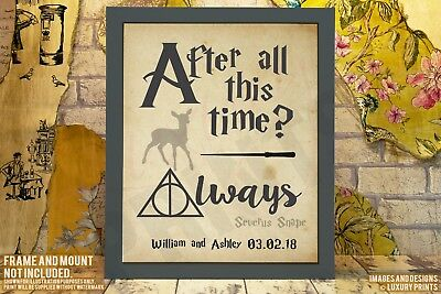 After All This Time? ALWAYS Snape Harry Potter Personalised Present Canvas Print