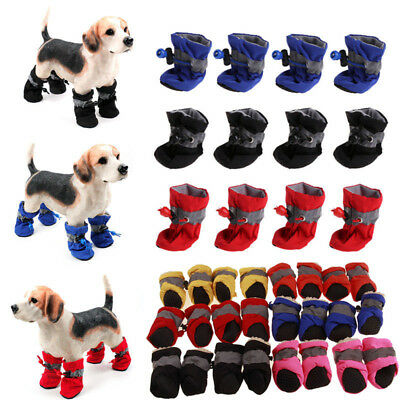4Pcs Dog Boots Shoes Anti Slip Waterproof Shoes Puppy Rain Pet Dogs Supplies