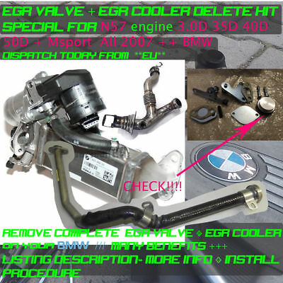 BMW EGR & COOLER DELETE REMOVAL KIT BLANKING PLATE BYPASS 335d 530d