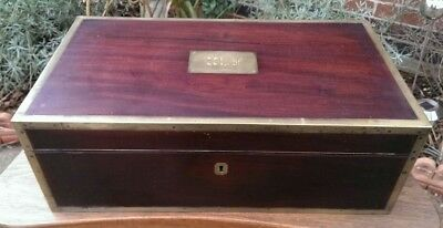 Antique Early 19th Century Military Writing Slope by Wright of Bond Street